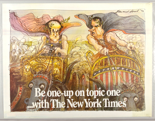 Poster, Be One Up on Topic One with...The New York Times, 1972