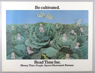 Poster, Be Cultivated, Read Time, Inc., 1977