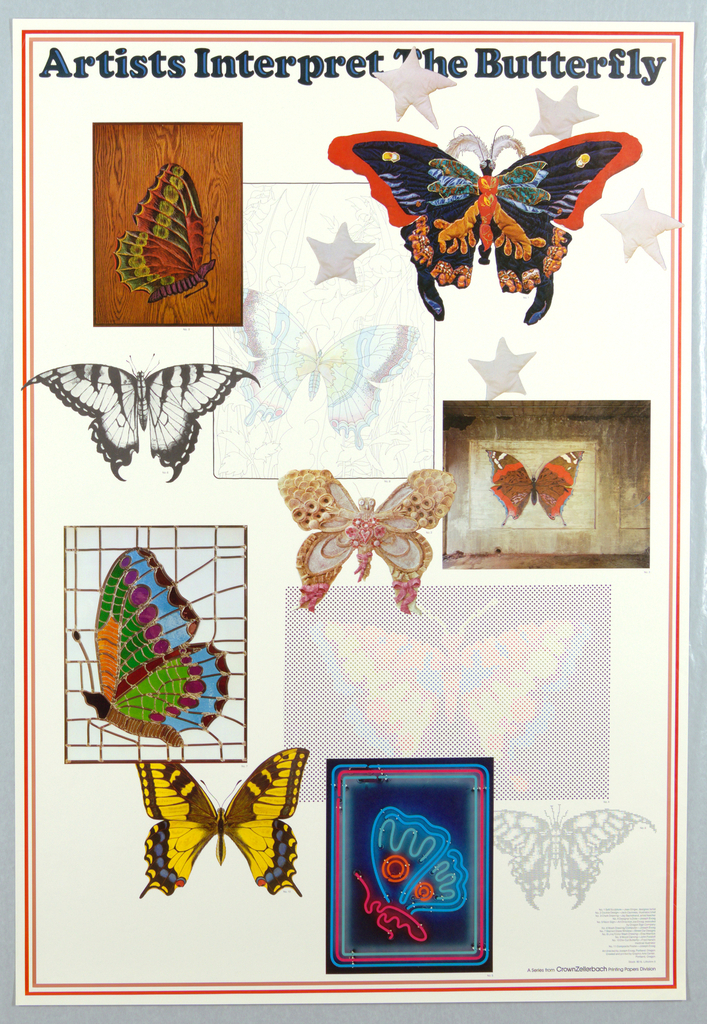 Poster, Artists Interpret the Butterfly, 20th century