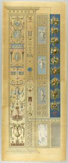 Print, Wall Decoration, Plate XII  from Le loggie di Rafaele nel Vaticano (Raphael's Loggia in the Vatican)