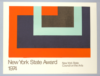 Poster, New York State Award, 1974