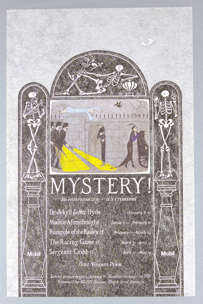 Poster, Mobile, Mystery! So Entertaining—It's Criminal..., probably 1981–82