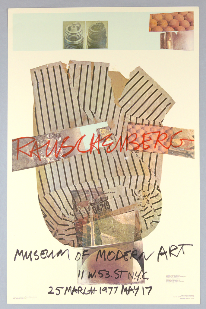 Poster, Museum of Modern Art Rauschenberg Exhibition 1977, 1977