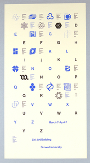 Poster, List Art Building, Brown University, 1973