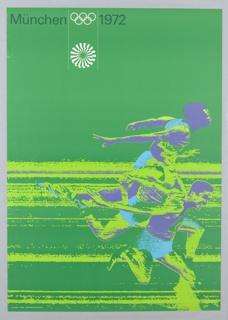 Poster for the Munich Olympics featuring an image of runners