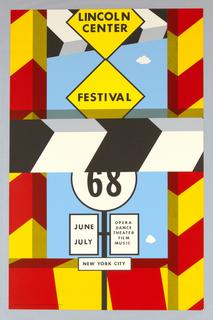 Poster, Lincoln Center/Festival/'68, 1968