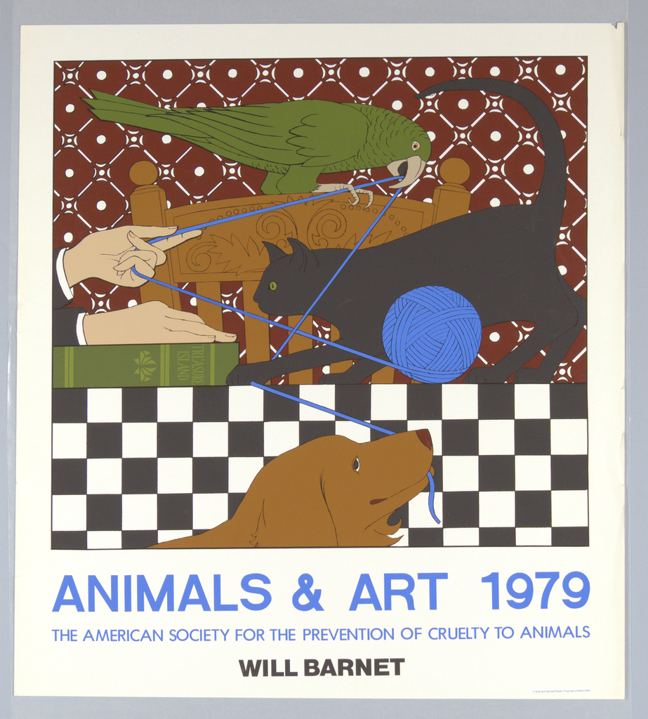Poster, Animals and Art, 1979