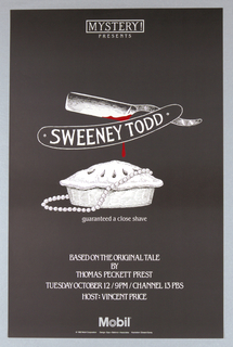 "Poster, Mobile, Mystery! Presents ""Sweeney Todd"", 1982"