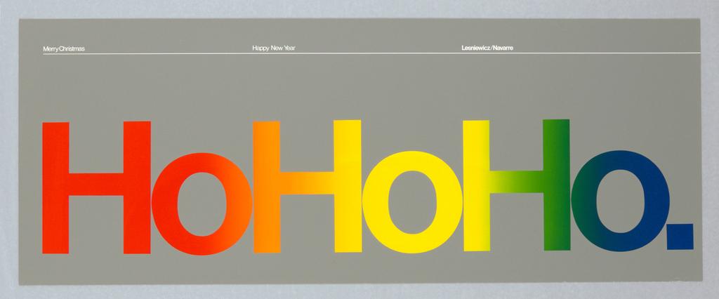 Poster, Christmas Card: Ho Ho Ho