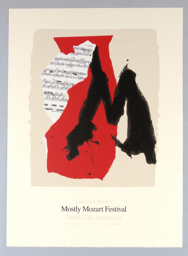 Poster, Lincoln Center's Mostly Motzart