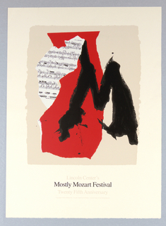 Poster, Lincoln Center's Mostly Motzart