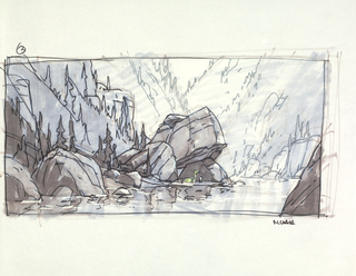Concept Art, River's Edge, The Good Dinosaur, 2015