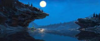 Concept Art, River's Edge, The Good Dinosaur, 2015
