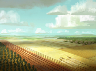 Concept Art, Farm, The Good Dinosaur, 2015