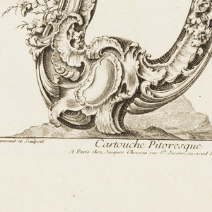 Print, Cartouche Pitoresque, 4, 1700–1775