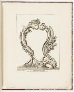 Print, Cartouche Pitoresque, 3, 1700–1775