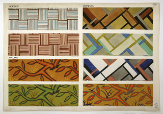 Drawing, Textile Design: Palme