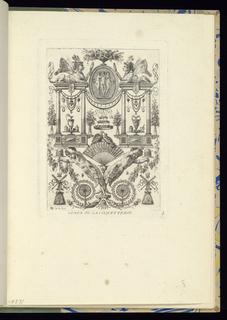 Bound Print, Plate 5, Vénus ou La Coquetterie (Venus or Vanity), Arabesques (Arabesques)