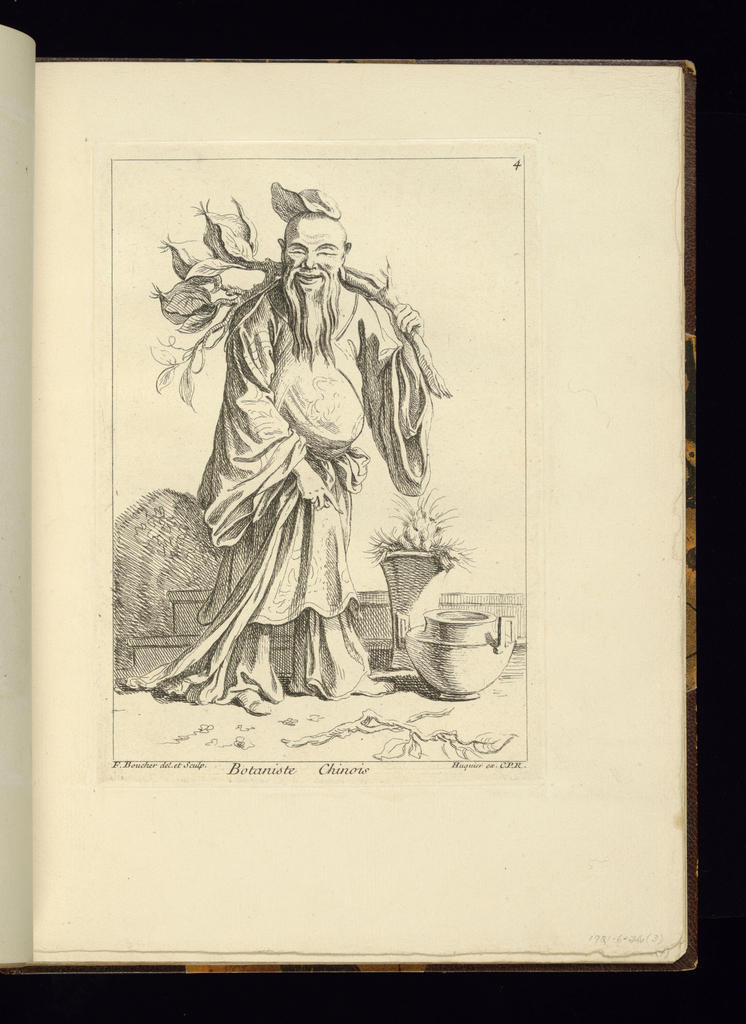 Plate no. 3 in book entitled Recueil/de diverse Figures Chinoise.