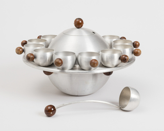 Saturn Punch Bowl With Cups And Tray