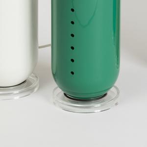 Green pill lamp.