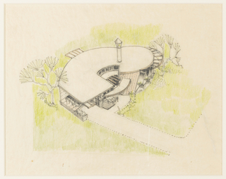 Drawing, Design for Spiral Form (Hemicycle House)