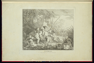 Plate four in a set depicting children's pastimes.