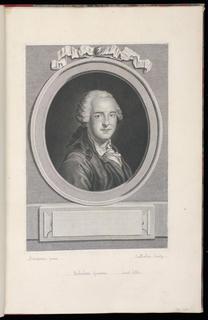 A bust portrait of a man, possible J.J. Balechou