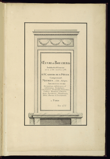 Print, Oeuvre, vol.1, suites 1-16, ca. 1775
