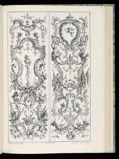 Bound Print, Two Upright Panels, Livre de Paneaux à divers usages (Book of Panels for Various Uses)