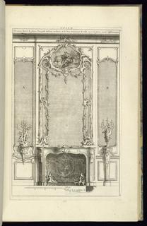 Print, Cheminée Decorée de Glaces…Différemment, 1745