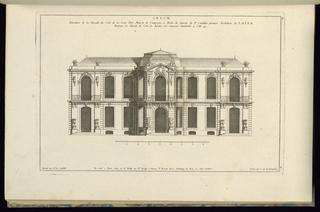 Print, Elevation de la Façade du Coté de la Cour, d'une Maison de Campagne à Batir, 1745