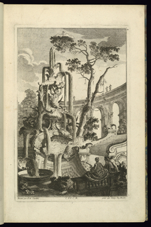 Print, Design for Fountain with a Couple, 1745
