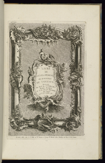 Print, Design for a Frame and a Cartouche, 1745
