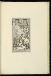 Print, Design for a Book Illustration with Children Playing with a Canon, 1745