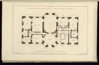 Print, Plan du premier Etage, d'une Maison de Campagne, 1745