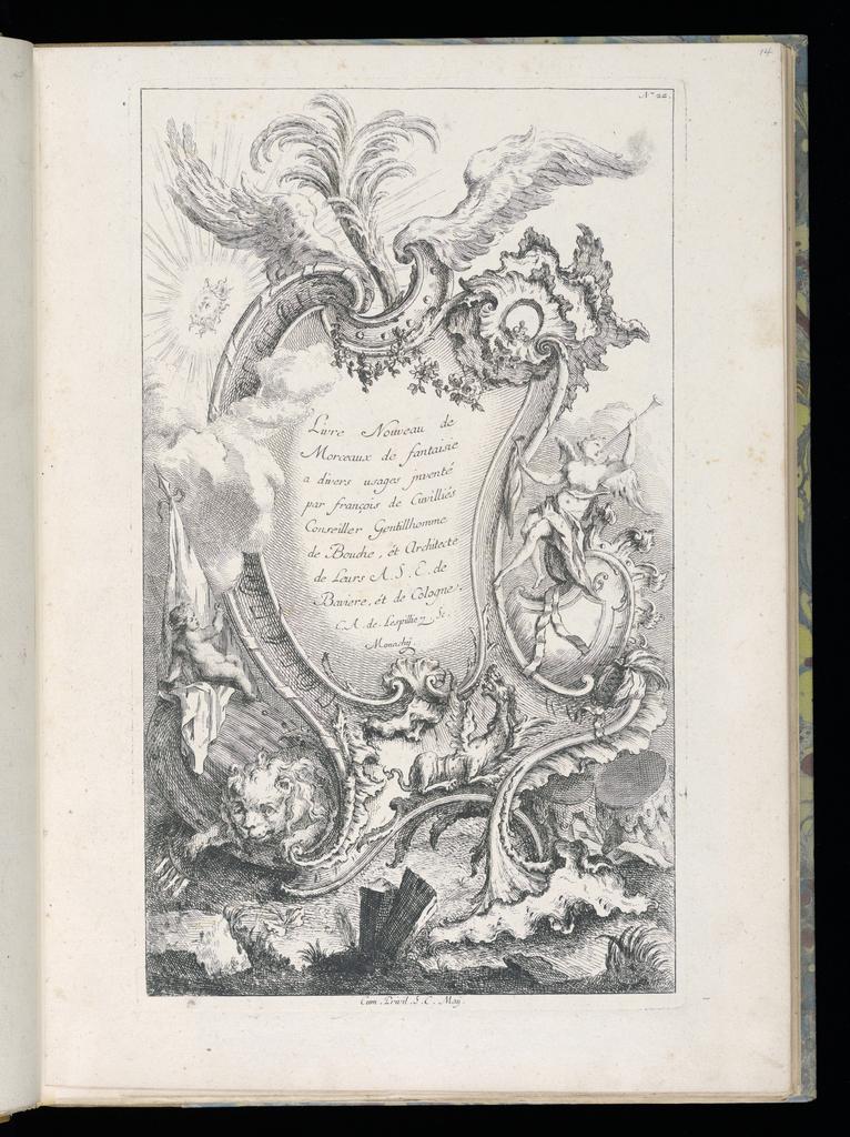 Bound Print Title Page Livre Nouveau De Morceaux De
