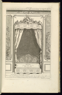 Print, Design for Wall Niche with a Bed, 1745