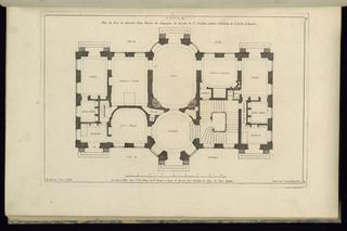 Print, Plan du Rez de chaussée d'une Maison de Campagne..., 1745