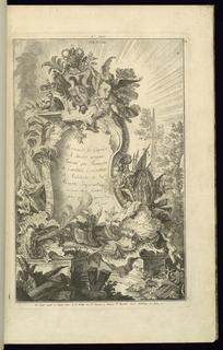 Print, Design for Cartouche, 1745