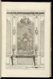Print, Design for Wainscoting with a Buffet, Elevation and Plan, 1745