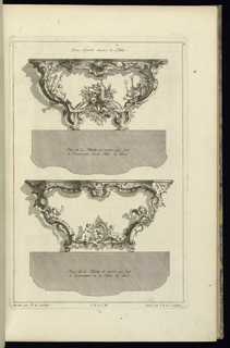 Print, Deux diferents desseins de Tables, 1745