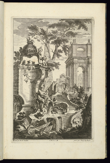 Print, Design for Fountain with a River God, 1745