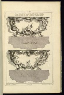 Print, Deux diferents desseins de Tables, 1745