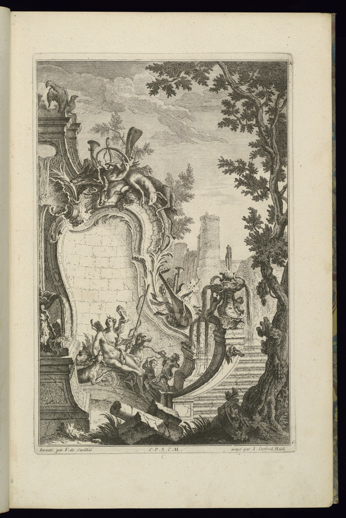 Print, Design for Fountain with Diana, 1745