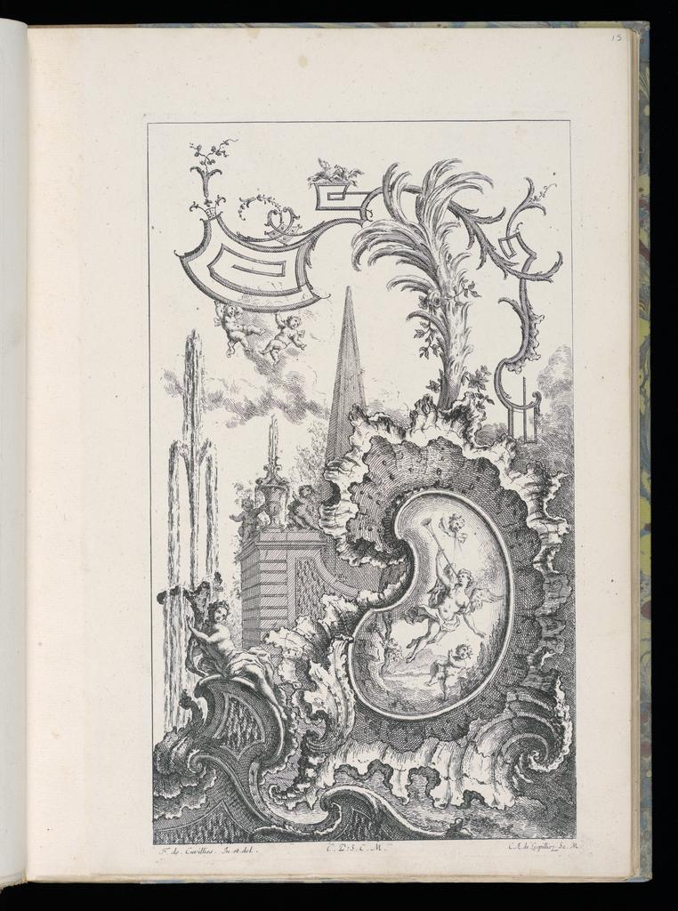 Bound Print Cartouche With Obelisk And Palm Livre Nouveau