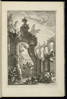 Print, Design for Fountain with Trelliswork Arches, 1745