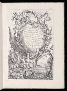 Folio 2, title, plate 1 of series of 6. Second page of frontispiece of book.