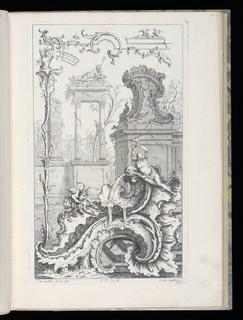 Bound Print, Cartouche with Ruins and Columns, Livre Nouveau de Morceaux de Fantaisie (New Book of Fantasy Pieces)
