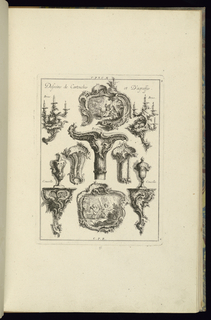 Print, Desseins de Cartouches et D'Agraffes, 1745